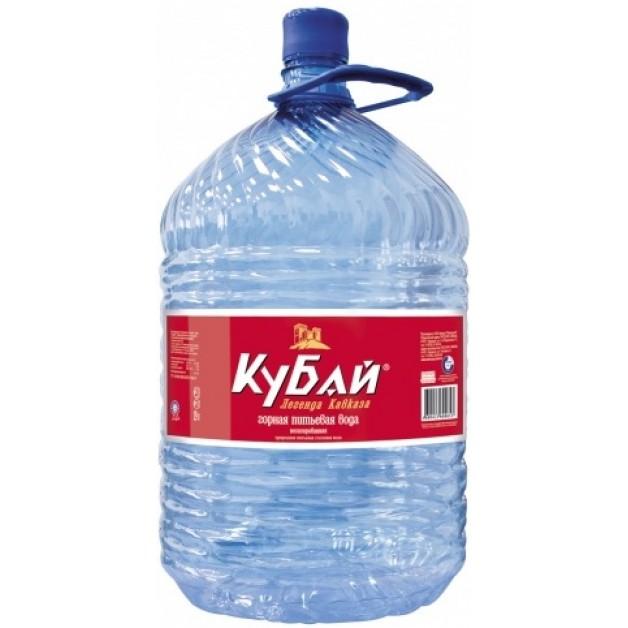 Питьевая бутилированная вода КУБАЙ 19 л (одноразовая тара)
