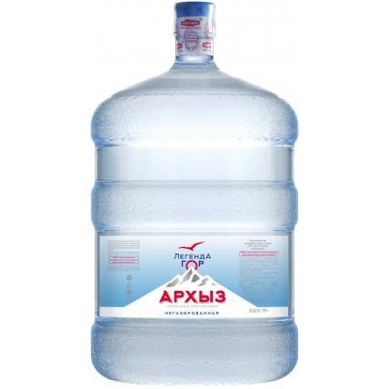 Питьевая бутилированная вода ЛЕГЕНДА ГОР АРХЫЗ 19 л ...