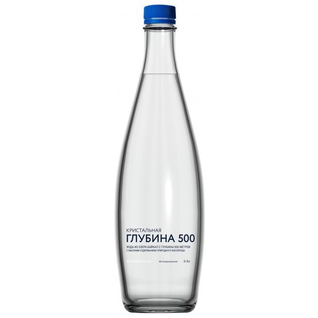 Вода Кристальная глубина 500 негазированная 0.5 литра (глубинная)