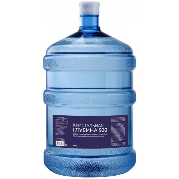 Питьевая бутилированная вода Кристальная глубина 500 19 л (одноразовой таре)