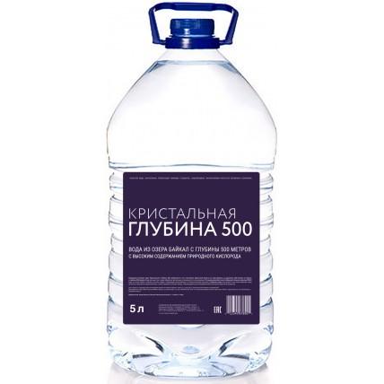 Вода Кристальная глубина 500, 5 литров...