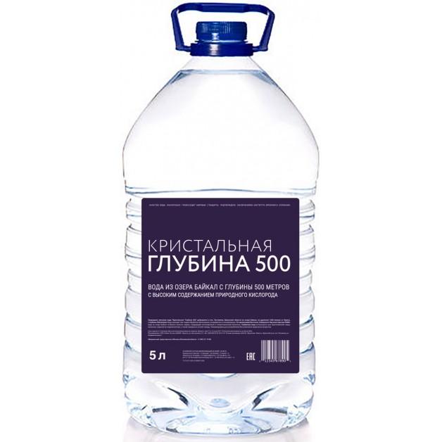 Вода Кристальная глубина 500, 5 литров