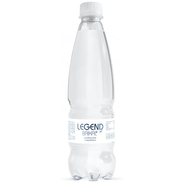 Вода Легенда Байкала (LEGEND OF BAIKAL) газированная 0.5 литра