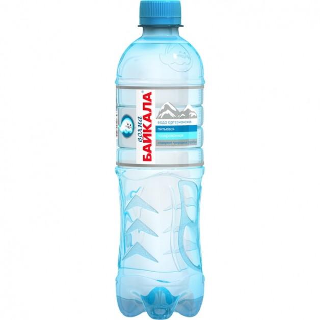 Вода Волна Байкала (WAVE OF BAIKAL) газированная 0.5 литра