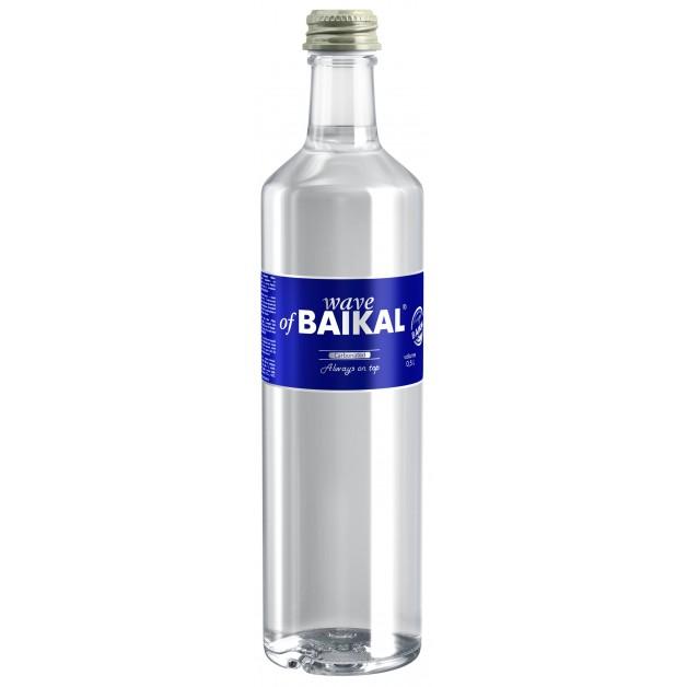 Вода Волна Байкала (WAVE OF BAIKAL) газированная стекло 0.5 литра