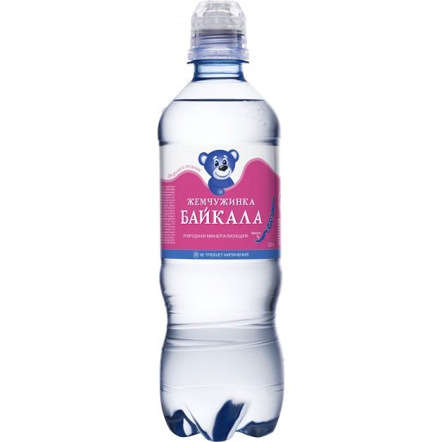 Вода Жемчужинка Байкала спорт 0.5 литра