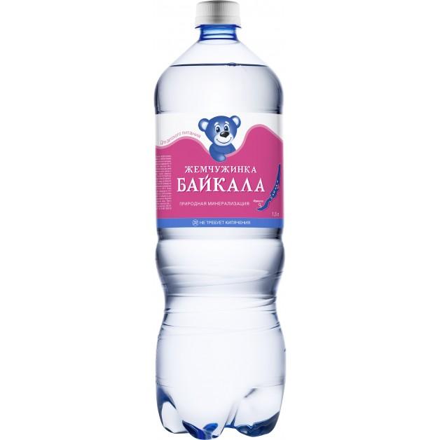Вода Жемчужинка Байкала ПЭТ 1.5 литра
