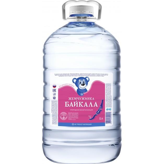 Вода Жемчужинка Байкала ПЭТ 5 литров