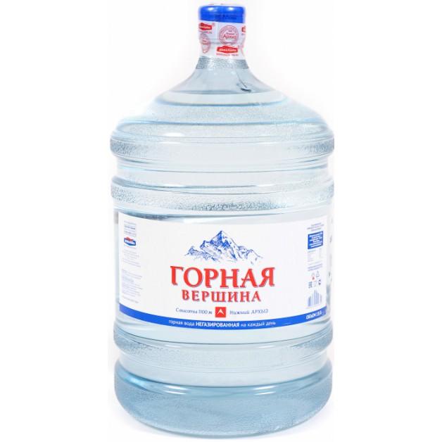Питьевая бутилированная вода ГОРНАЯ ВЕРШИНА 19 л (оборотная тара)