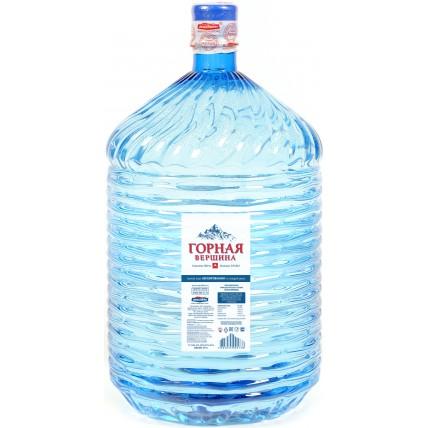 Вода ГОРНАЯ ВЕРШИНА в одноразовой таре 19 литров...