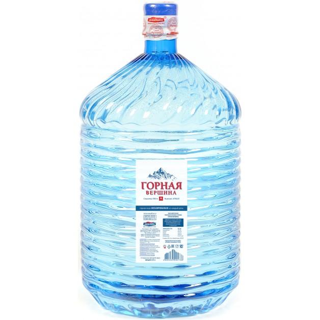 Вода ГОРНАЯ ВЕРШИНА в одноразовой таре 19 литров