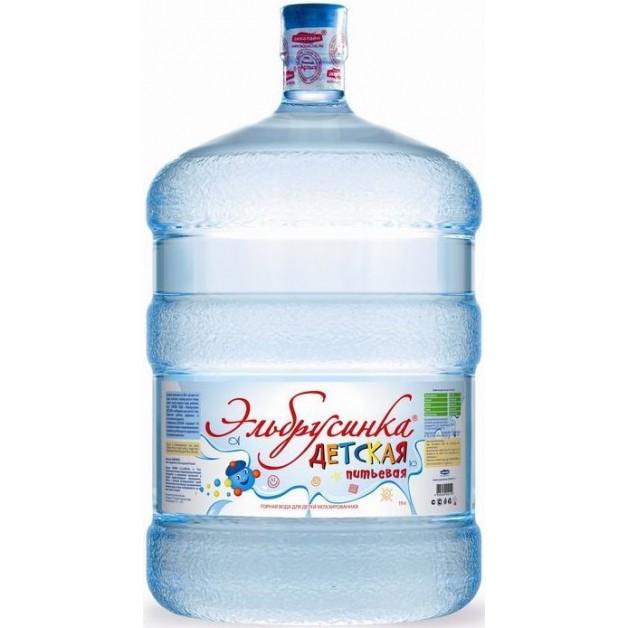Питьевая бутилированная вода ЭЛЬБРУСИНКА ДЕТСКАЯ 19 л (оборотная тара)