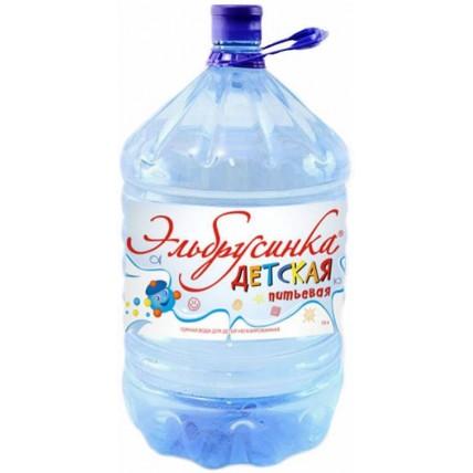 Вода ЭЛЬБРУСИНКА ДЕТСКАЯ в одноразовой таре 19 литро...