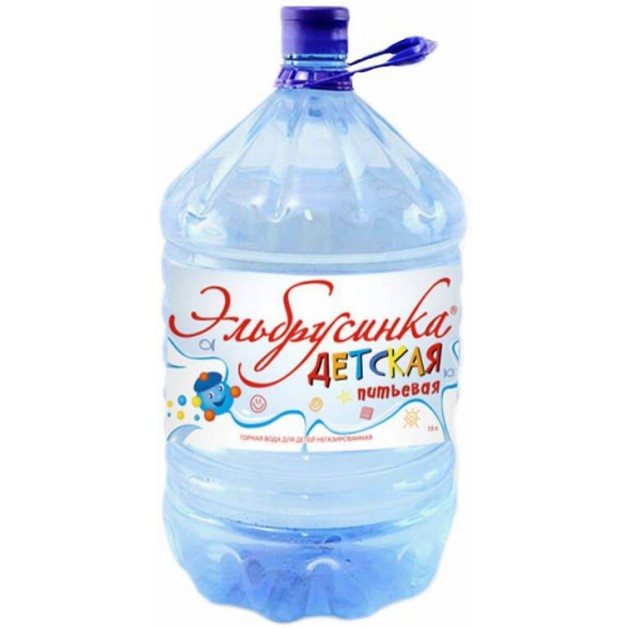 Питьевая бутилированная вода ЭЛЬБРУСИНКА ДЕТСКАЯ  19 л (одноразовая тара)