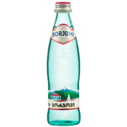 Вода БОРЖОМИ (BORJOMI) газированная стекло 0.33 литр...