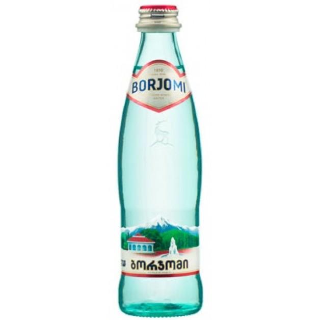 Вода БОРЖОМИ (BORJOMI) газированная стекло 0.33 литра