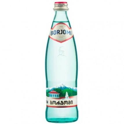 Вода БОРЖОМИ (BORJOMI) газированная стекло 0.5 литра...