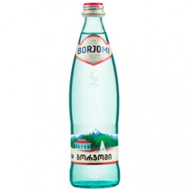 Вода БОРЖОМИ (BORJOMI) газированная стекло 0.5 литра