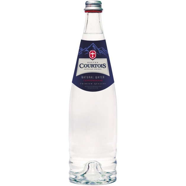 Вода КУРТУА (COURTOIS) с йодом газированная стекло 0.75 литра