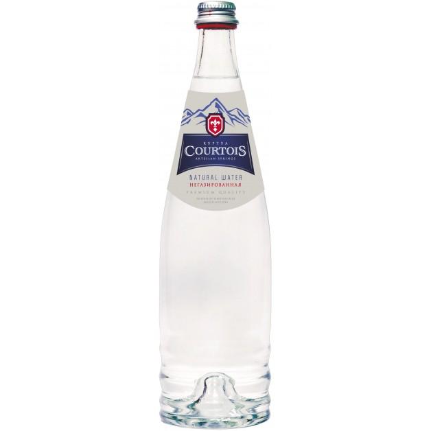 Вода КУРТУА (COURTOIS) с йодом негазированная стекло 0.75 литра