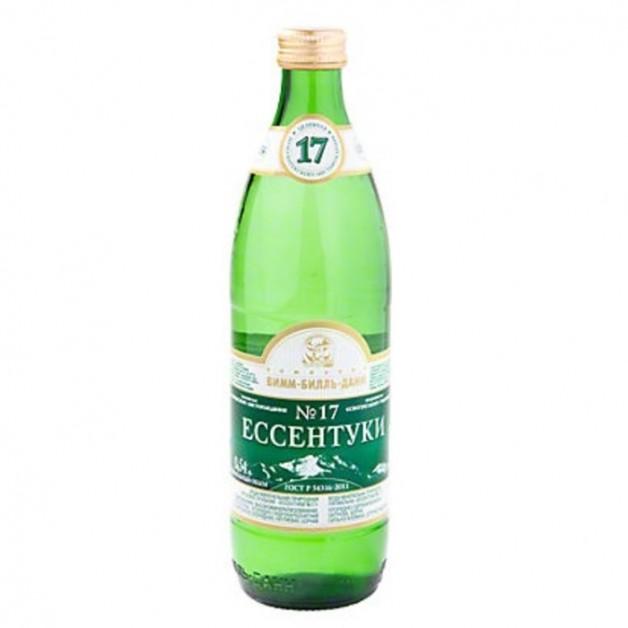 Вода ЕССЕНТУКИ №17 газированная стекло 0.5 литра