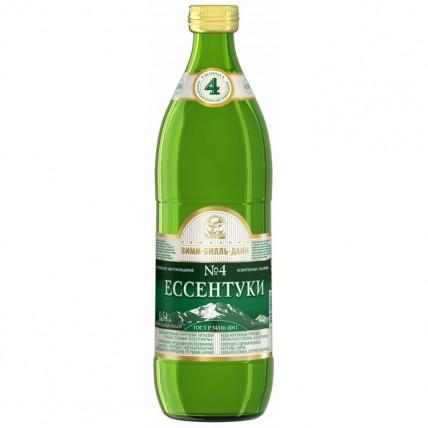 Вода ЕССЕНТУКИ №4 газированная стекло 0.5 литра...