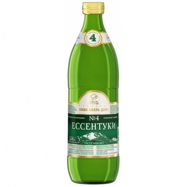 Вода ЕССЕНТУКИ №4 газированная стекло 0.5 литра