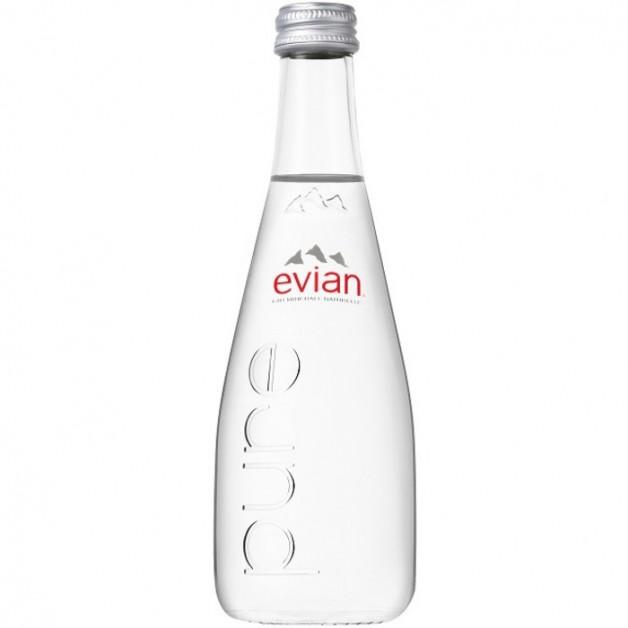 ЭВИАН (EVIAN) негазированная стекло 0.33 литра