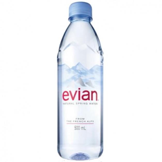 ЭВИАН (EVIAN) негазированная 0.5 литра (24 шт.)
