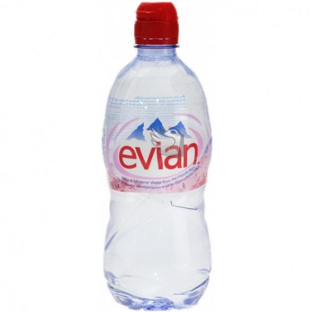 ЭВИАН (EVIAN) негазированная спортлок 0.75 литра