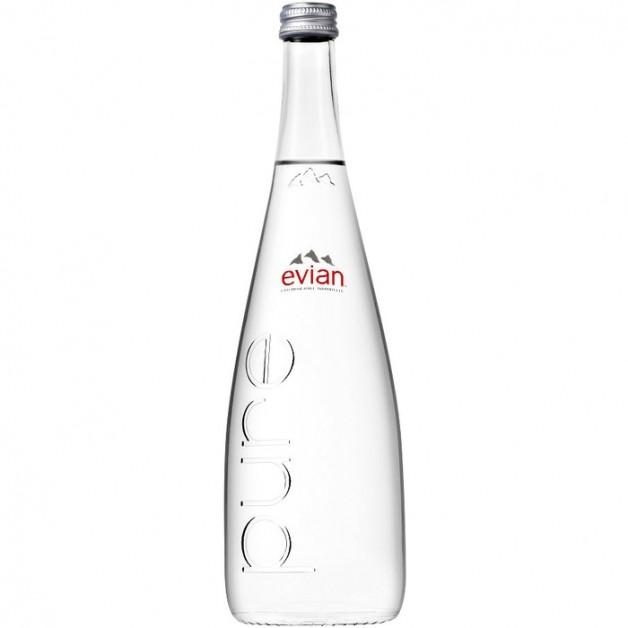ЭВИАН (EVIAN) негазированная стекло 0.75 литра