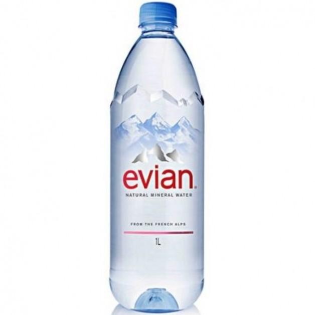 ЭВИАН (EVIAN) негазированная 1 литр