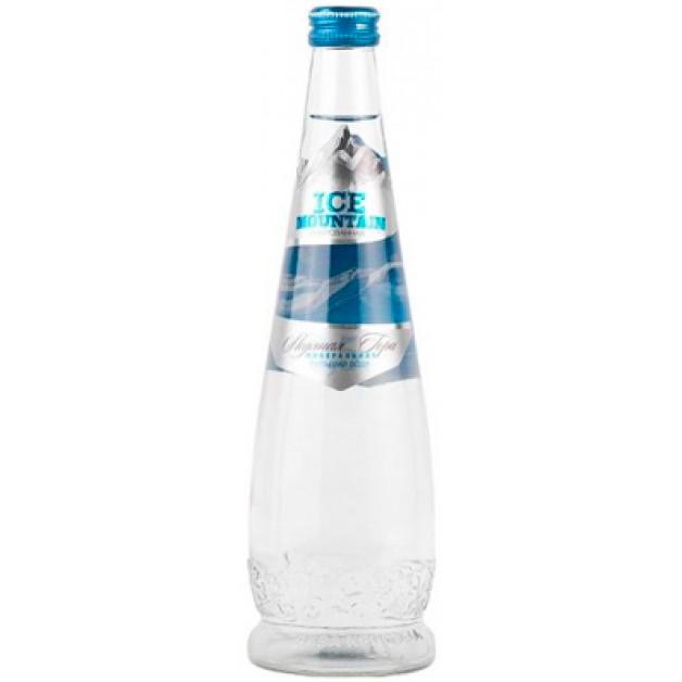 Вода Ледяная гора (ICE MOUNTAIN) газированная стекло 0.5 литра