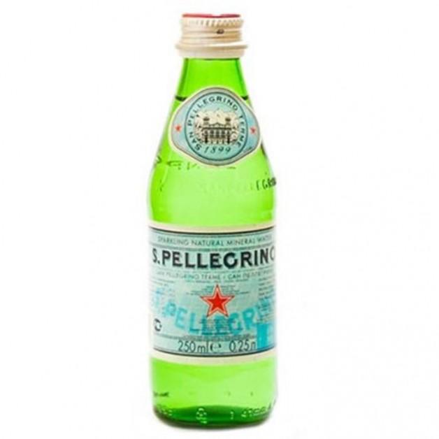 САН ПЕЛЛЕГРИНО (SAN PELLEGRINO) газированная стекло 0.25 литра
