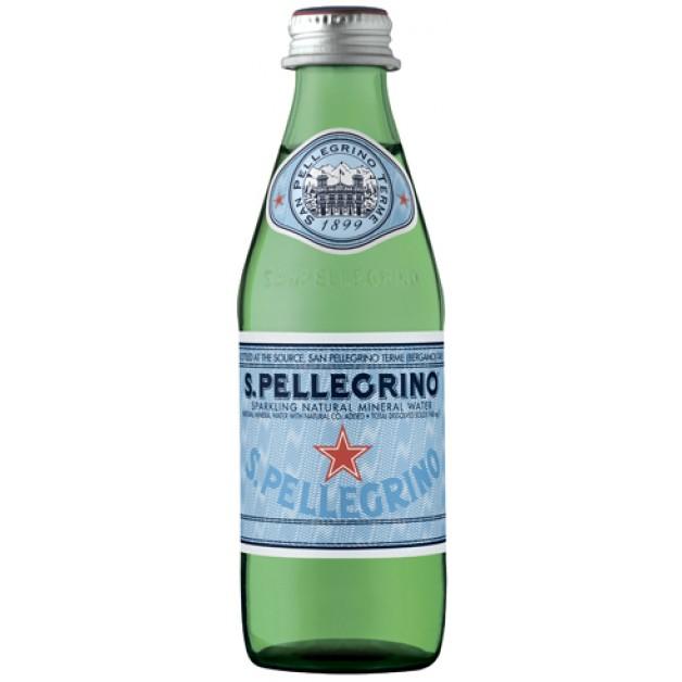 Вода САН ПЕЛЛЕГРИНО (SAN PELLEGRINO) газированная стекло 0.25 литра
