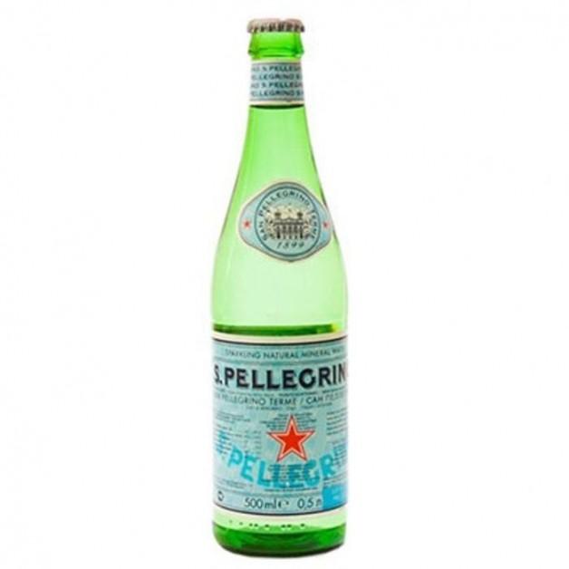 САН ПЕЛЛЕГРИНО (SAN PELLEGRINO) газированная стекло 0.5 литра