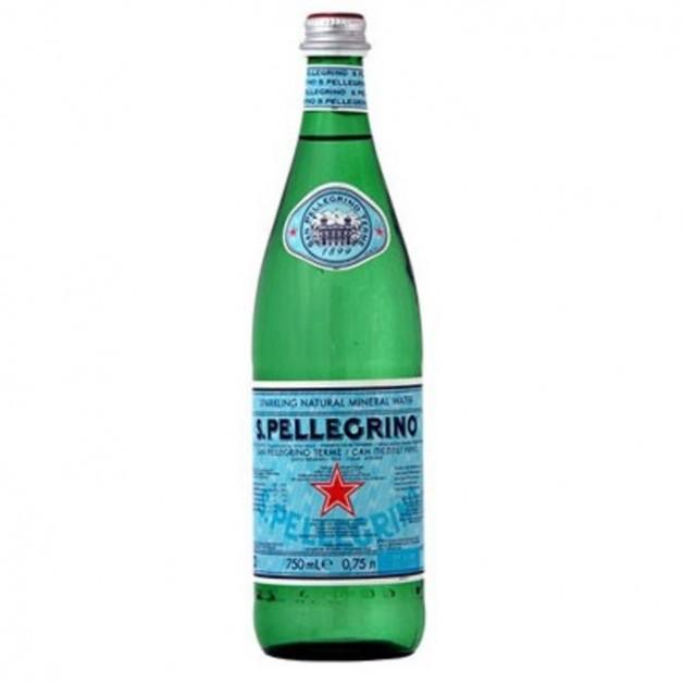 Вода САН ПЕЛЛЕГРИНО (SAN PELLEGRINO) газированная стекло 0.75 литра