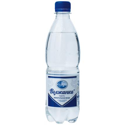Вода ВОЛЖАНКА минеральная газированная 0.5 литра...