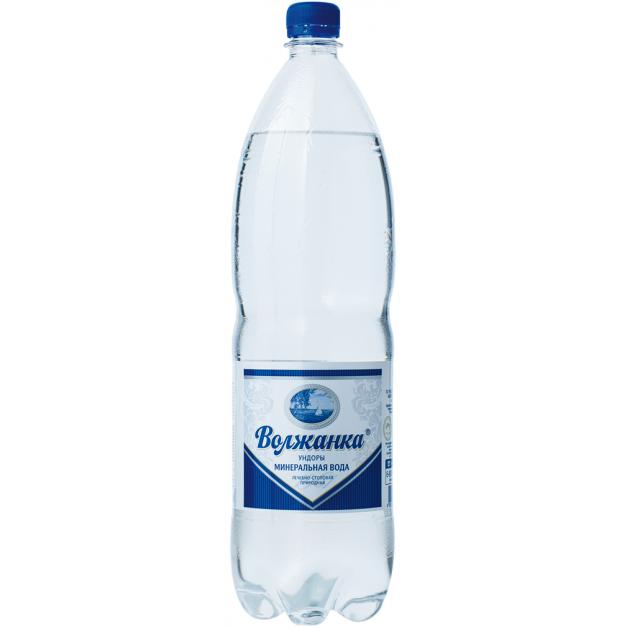 Вода ВОЛЖАНКА минеральная газированная 1.5 литра