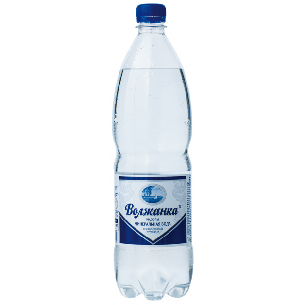 Вода ВОЛЖАНКА минеральная газированная 1 литр