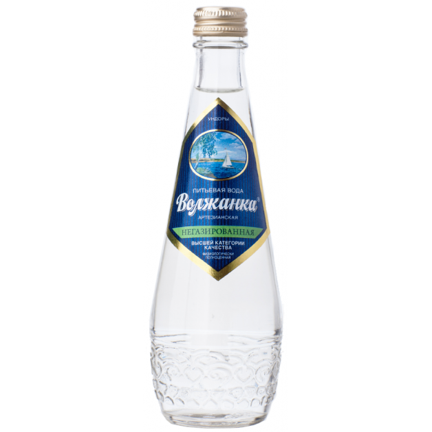 Вода ВОЛЖАНКА негазированная стекло 0.33 литра