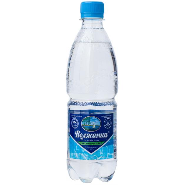 Вода ВОЛЖАНКА негазированная 0.5 литра