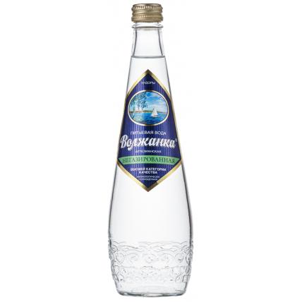 Вода ВОЛЖАНКА негазированная стекло 0.5 литра...
