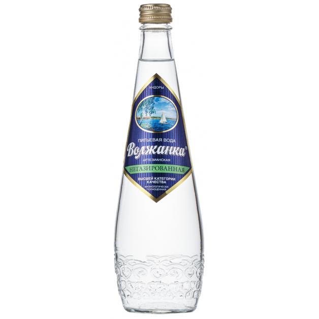 Вода ВОЛЖАНКА негазированная стекло 0.5 литра