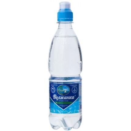 Вода ВОЛЖАНКА негазированная спорт 0.5 литра...