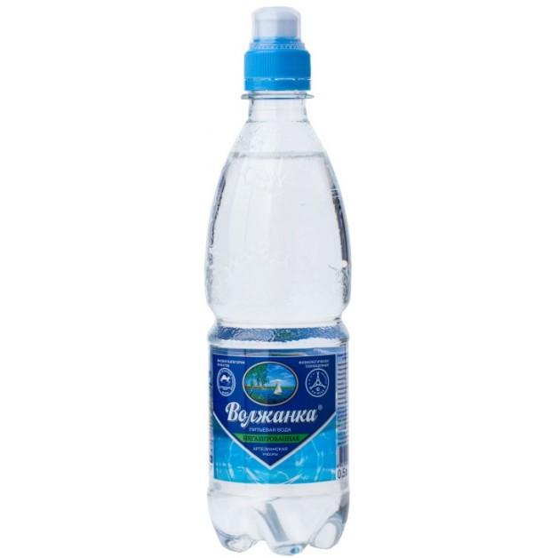 Вода ВОЛЖАНКА негазированная спорт 0.5 литра