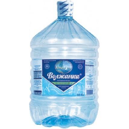Вода ВОЛЖАНКА в одноразовой таре 19 литров...