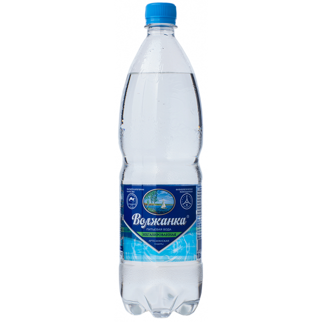 Вода ВОЛЖАНКА негазированная 1 литр