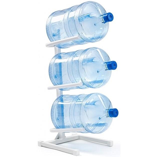 Подставка для 3-х бутылей белая