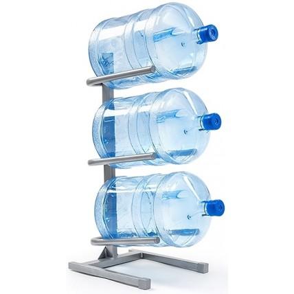 Подставка для 3-х бутылей серая...